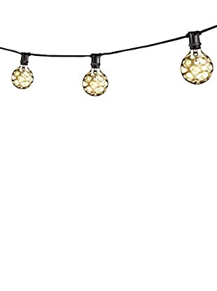 Bulbrite 25' Mini Light String, Black/Amber Marble