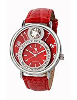 Chappin & Nellson Red Leather Analog Women Watch - CN-10-L