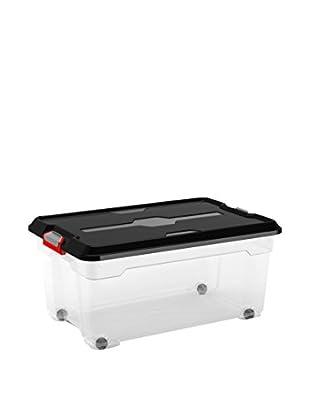 KIS Set Caja de Almacenamiento 6 Uds. Moover Box L Transparente/Negro