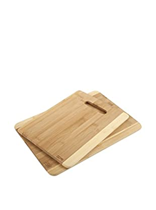 Core Bamboo Daisy Collection Set of 2 Two-Tone Cutting Boards