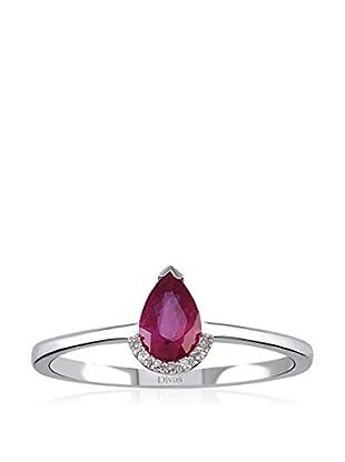 Divas Diamond Anillo Diamond Drop Ruby
