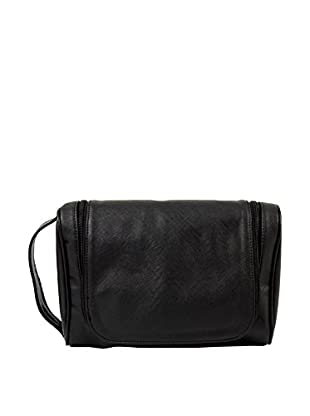 Hanging Toiletry Bag with 5-Piece Manicure and Grooming Set, Black