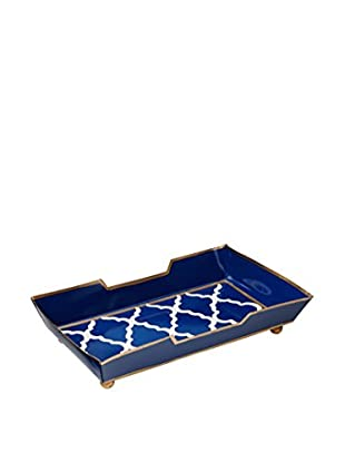 Malabar Bay Madeline Guest Towel Tray, Navy