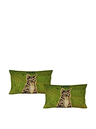 LITTLE FRIENDS by MANIFATTURE COTONIERE Kopfkissenbezug 2er Set Tabby Cat