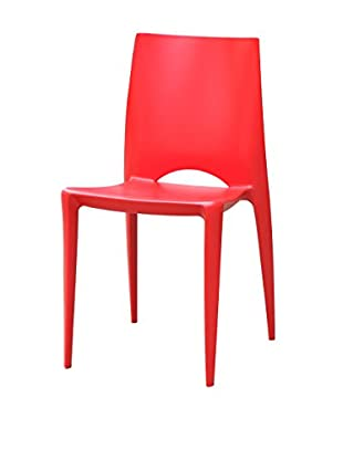 Manhattan Living Square Dining Chair, Red