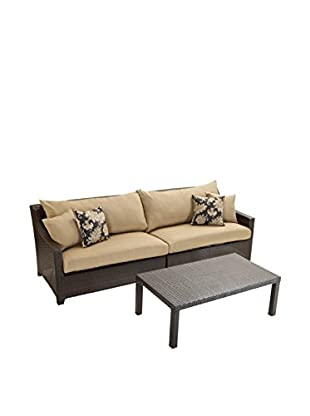 RST Brands Deco 2-Piece Sofa With Coffee Table Set, Beige