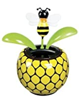 Solar Powered Dancing Bumblebee Flower