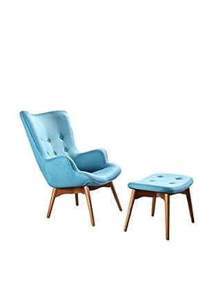 Ceets Carlton 2-Piece Lounge Set, Sky Blue