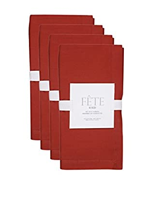 KAF Home Set of 4 Solid Napkins, Red