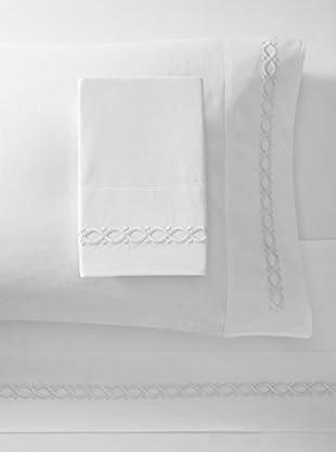 Dea Eliza Embroidery Sheet Set (White/White)