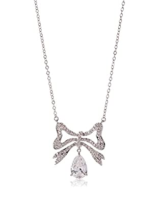 CZ by Kenneth Jay Lane CZ Bow Pendant Necklace