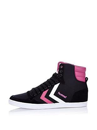 Hummel Sneaker Slimmer Stadil High (schwarz/himbeere)