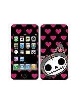Furrybones® iPhone 4/4S Compatible Skin Pink Hearts Mao-Mao Cat