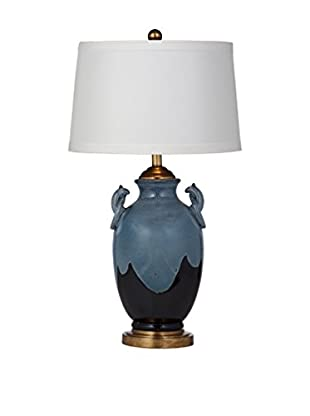 Bassett Mirror Company Mario 1-Light Table Lamp, Dark Blue