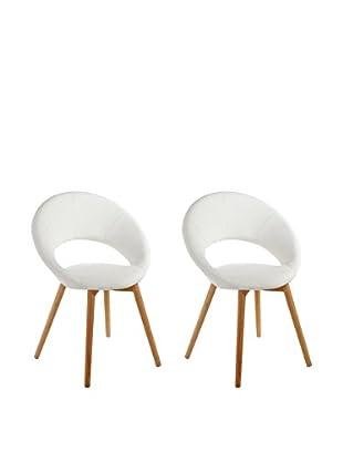 13 Casa Stuhl 2er Set Valencia B4 weiß
