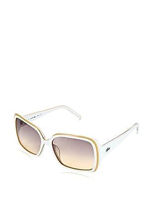 Lacoste Sonnenbrille L623S_106 (56 mm) weiß/gelb