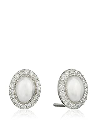 Bentelli Pendientes 9K Gold 0.10Ct Diamonds Oro Blanco