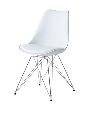 2er Set Stühle weiß 48 x 55 x 85 cm