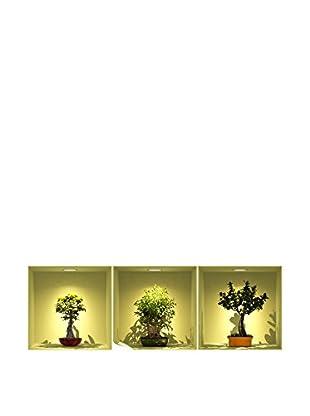 Ambiance Sticker Wandtattoo 3er Set 3D Effect Bonsai Trees