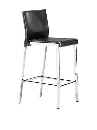 Zuo Modern Boxter Counter Chair, Black