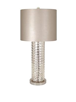 Diamond Mercury Glass Table Lamp, Crystal