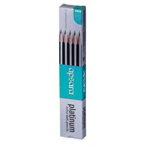 Apsara Platinum Extra Dark Pencils - Pack of 10