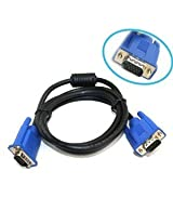 Genuine Dell Monitor Cable. Ferrited and Double Shielded 6ft 15 pin M/M VGA / SVGA Blue ends