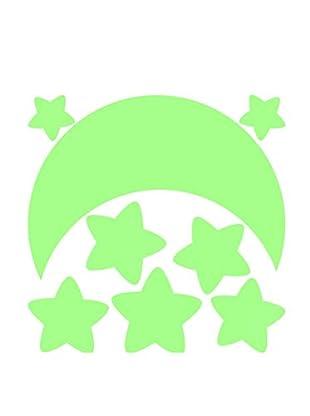 Ambiance Sticker Wandtattoo Fluorescent Moon And Stars