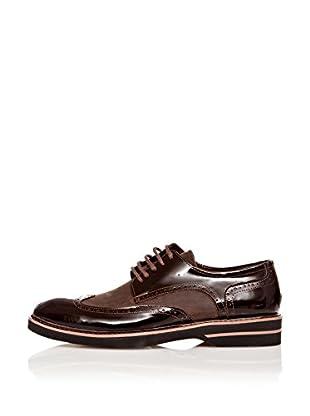 Paolo Massi Zapatos Derby Cordones (Marrón)