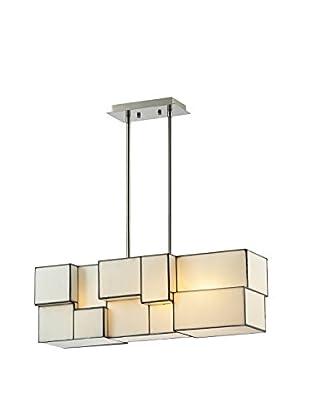Artistic Lighting Chandelier, Brushed Nickel