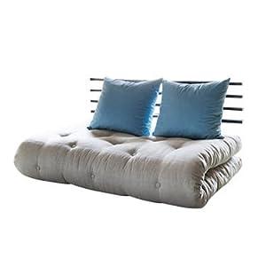 ShinChan Sofa Bed with 2 Pillows - Sky Blue