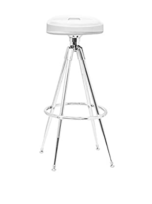 Manhattan Living Sculpt Bar Stool, White