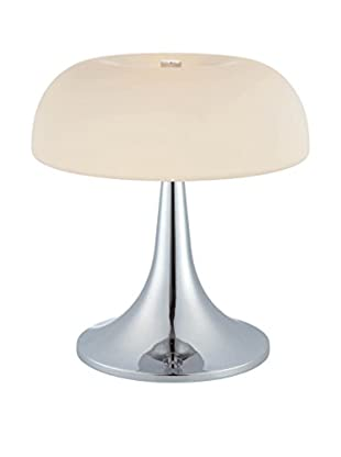 Lite Source Greta Table Lamp, Chrome/Frosted