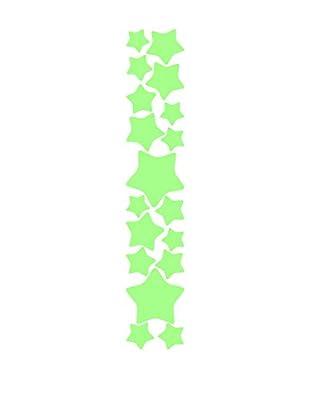 Ambiance Sticker Wandtattoo Stars Set Fluorescent