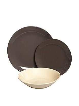 Molecuisine Geschirr 18 tlg. Set schokolade/elfenbein