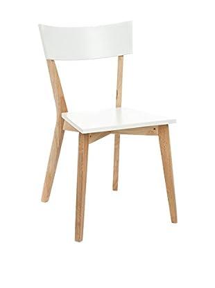 Special Wood Set Silla 2 Uds. Kyra Blanco/Natural
