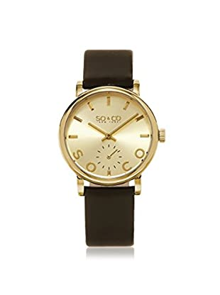 SO&CO Women's 5093L.3 Madison Brown/Gold-Tone Leather Watch