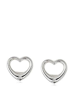 Mindy Harris Sterling Open Heart Earrings