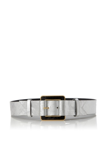 Meredith Wendell Women's Glass Buckle Belt (Foil)
