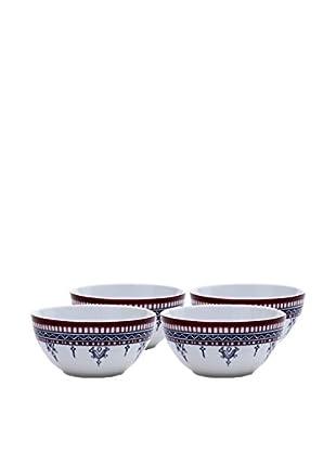 Padma Collection Minakari Cereal Bowls, Plum/Berry, Set of 4