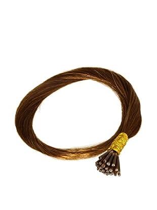 Just Beautiful Hair and Cosmetics 40 cm Echthaarsträhnen 0,5g Stick Extensions / I-Tip Microrings, Remy Haarverlängerung, kastanienbraun, 1er Pack (1 x 100 Stück)