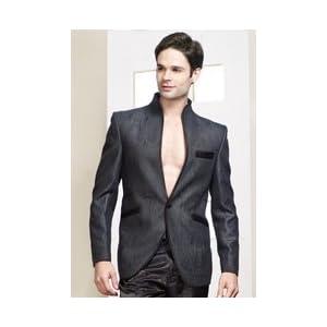 Turquoise Jacquard Designer Blazer