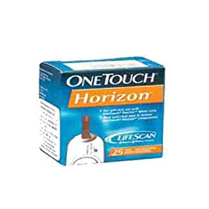 Johnson & Johnson One Touch Horizon Test Strips (25 Strips) - Combo Of 5