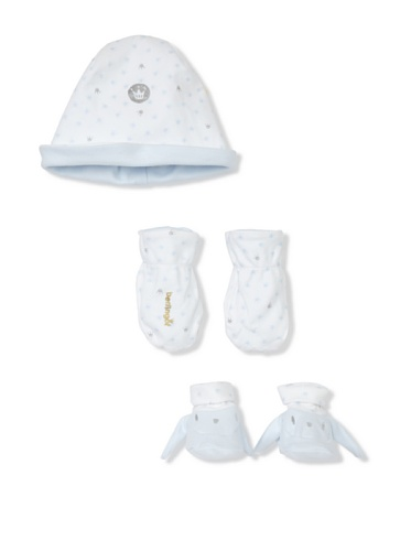Berlingot Baby 3-Piece Cap Set (Baby Blue)