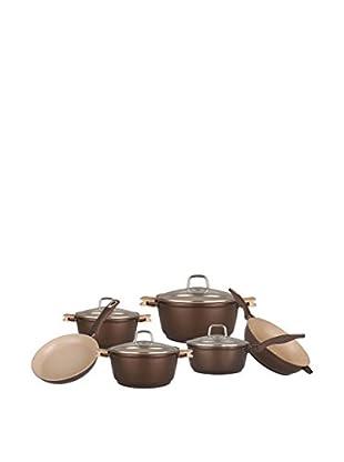 Blaumann Set Batería de cocina 10 Piezas Brown Granit Line