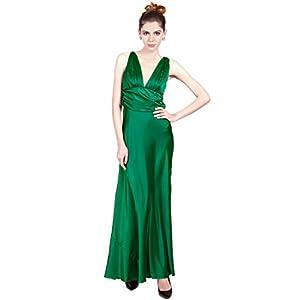 Green Solid Maxi Dress