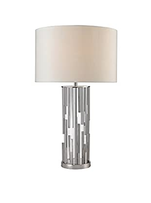 Artistic Lighting Table Lamp, Polished Nickel/Clear