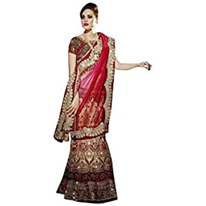 Ninecolours LD0430098 Embroidered Lehenga Choli - Red