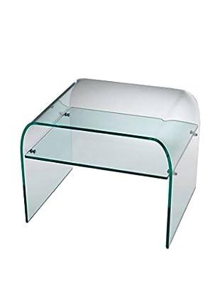 DC Glass  Mesita De Noche Magazine Transparente
