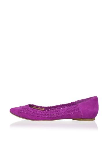 Sigerson Morrison Women's Helen Flat (Dark Pink)